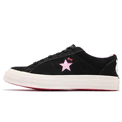 (Converse Chuck Taylor All Star Lo Hello Kitty Fashion Sneakers (Black One Star, 10 Women / 8 Men B US) )