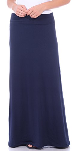 Popana Women's Casual Long Convertible Maxi Skirt Summer Beach Cover Up Made in USA Navy Small