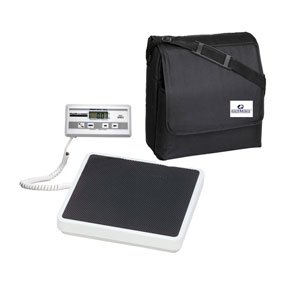 HealthOMeter 349KLX Digital Medical Weight Scale and Carrying Case