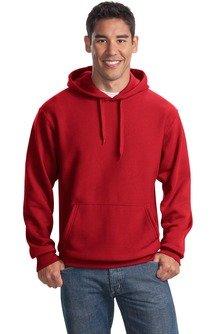 Sport-Tek Men's Super Heavyweight Pullover Hooded Sweatshirt L Red from Sport-Tek