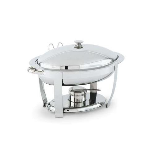 Vollrath Orion Stainless Steel Small Oval Lift-Off Chafer, 4 Quart - 1 each.