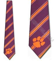 Clemson Tigers Collegiate Woven Polyester Necktie (Polyester Tie Tigers Woven)