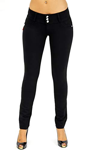 Premium Stretch Cotton Butt lifting, Levanta Cola, Skinny Leg Premium French Terry Fashion Moleton in Black Size S