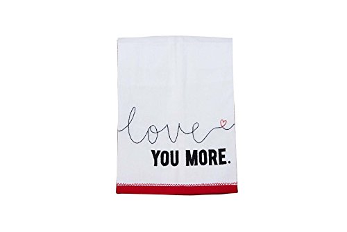 Glory Haus 7090525 Love You More Tea Towel, Multicolor by Glory Haus