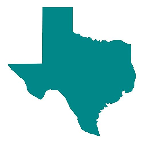 (Texas State Silhouette [Pick Any Color] Vinyl Transfer Sticker Decal for Laptop/Car/Truck/Window/Bumper (5in x 5in (Car Size), Turquoise) )