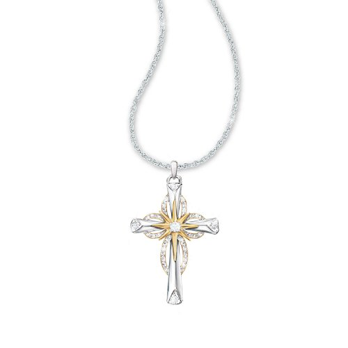 Thomas Kinkade Jewelry (Thomas Kinkade Reflections Of Faith Cross Pendant Necklace by The Bradford Exchange)