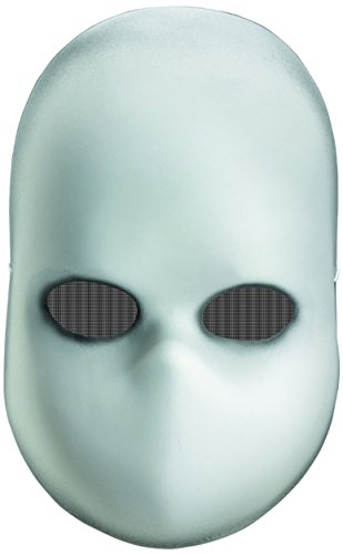 Disguise Costumes Blank Black Eyes Doll Mask, -