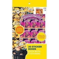 Despicable Me 3 Minions Sticker Boxes for Kids - Pkg. of 20 -