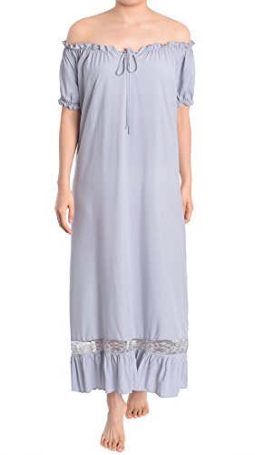 Latuza Sleepwear Shoulder Victorian Nightgown