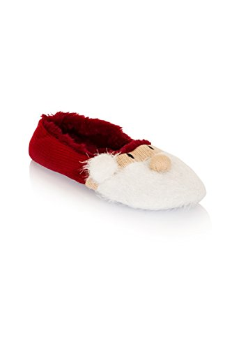 Loungeable BoutiqueSanta / Snowman - Sandalias con cuña mujer Papá Noel