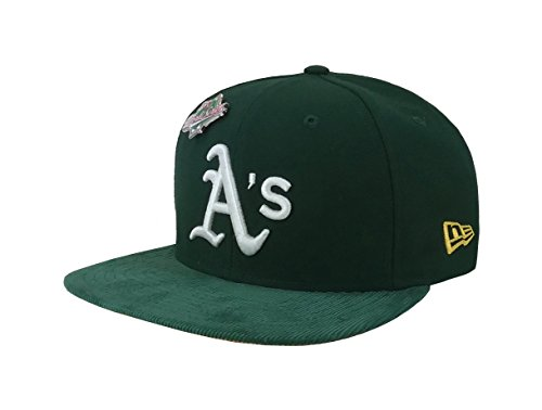 - New Era 9Fifty Hat Oakland Athletics Pin 1989 World Series Dark Green Cap