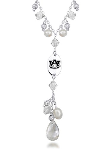Auburn University Tigers Crystal and Pearl Necklace
