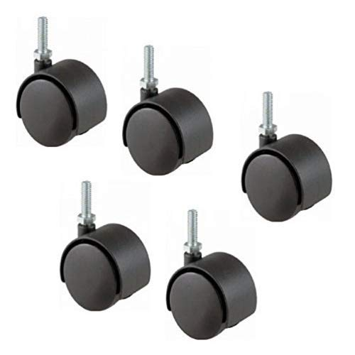 Dentists Unite 9004 Black Casters for Dental Stool (Pack of 5) by Dentists Unite
