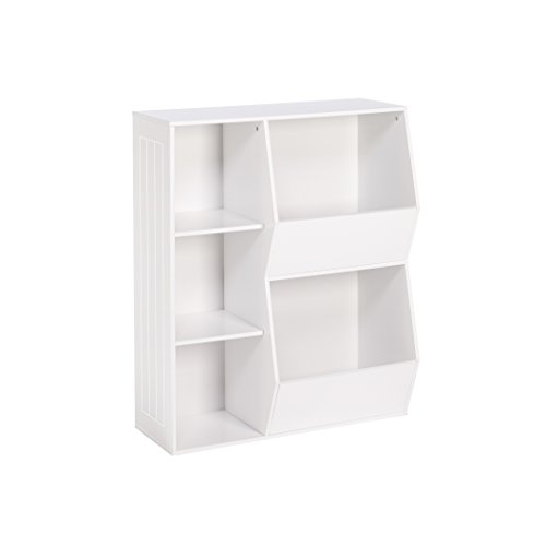 RiverRidge 3-Cubby, 2-Veggie Bin Kids Floor Cabinet, White
