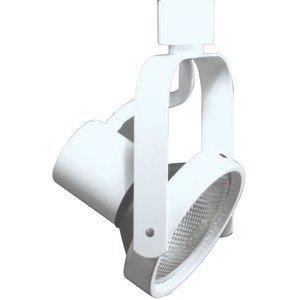 Halo L1730PX Track Light, Line Voltage PAR30 Power Trac Gimbal Ring Track Fixture - White-2PK