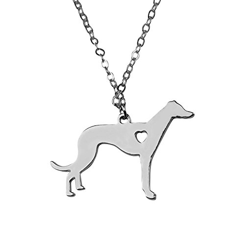 - Art Attack Greyhound Necklace, Pet Puppy Rescue Adoption, Gift for Dog Lovers