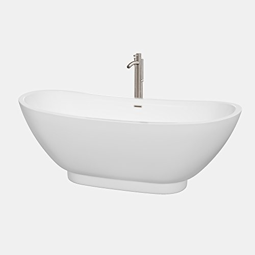 Wyndham collection wcbto85769atp11bn clara freestanding for Best soaker tub for the money