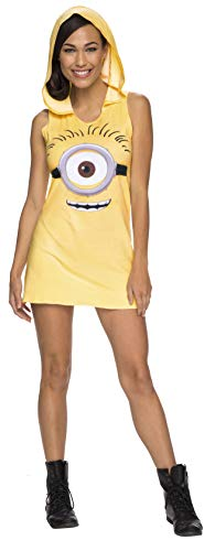 Rubie's Women's Minion Hooded Tank Dress, Yellow, Large -