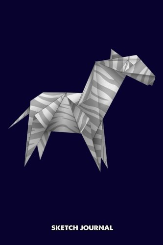 (Sketch Journal: Origami Horse, triangle paper shape low poly Animal origamist Drawing sketch Pad, Composition Book and blank Notebook gift for Men ... boys and girls, Children Animals Doodles)