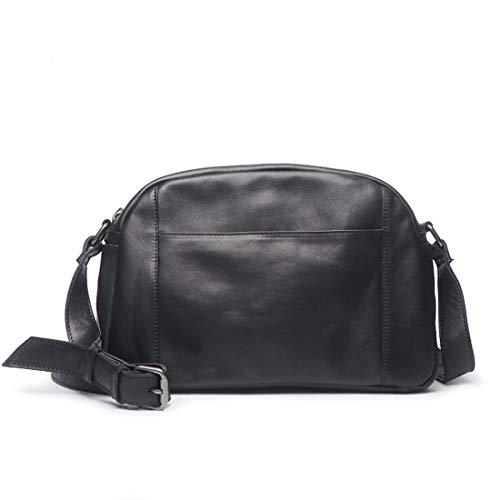 Pour Cuir Houyazhan Hommes Bag Black À En color Retro Sac Messenger Black Bandoulière Yww0HfqR