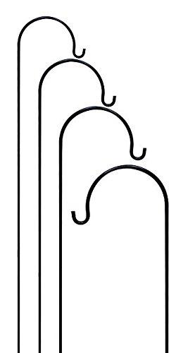 Gardman Single Shepherd Hooks, Black, 7'2''H, Pack of 4 by BestNest