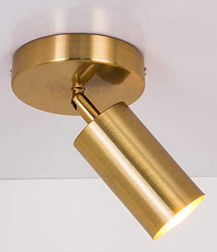 Single Bulb Track Light - Gold Finish
