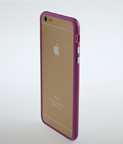 Iphone 6 plus 6s plus (5.5 inch) Silicon Bumper Purple by G4GADGET®