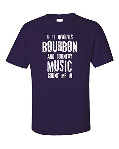 Bourbon and Country Music Count Me in - Unisex T-Shirt Purple