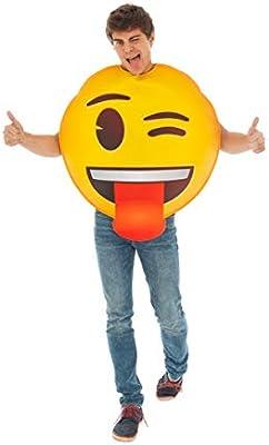 Generique - Disfraz Emoji guiño de Ojo Única: Amazon.es: Juguetes ...