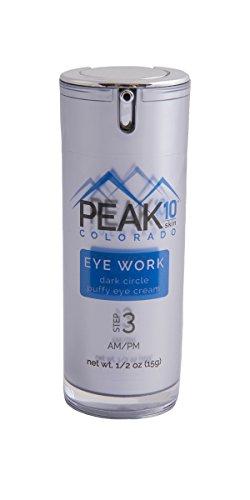 PEAK 10 SKIN - EYE WORK dark circle/puffy eye cream 1/2oz