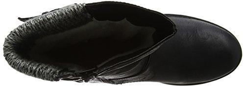 Farrin Black Lotus Women's Biker Black Boots 5YXXqwr