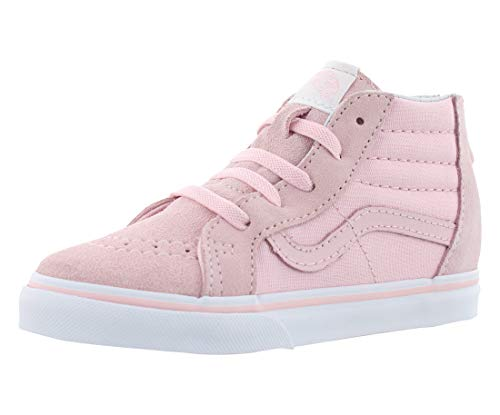 Vans VN-0A32R3Q1C: Toddler's Sk8-Hi Zip Chalk Pink/White Shoes (5 M US Toddler)