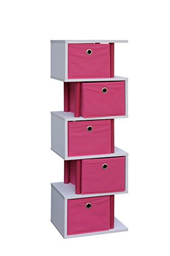 4d Concepts Storage (4D Concepts Zig Zag 5 Drawer Storage Tower in Pink)