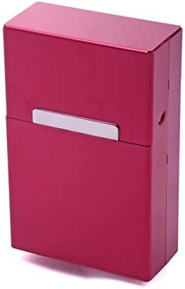 LK Trend & Style Caja de Cigarrillos Metal Aluminio Zigarettentui Caja del Cigarrillo Caja para Cigarrillos - Más Colores a Elegir - Rojo: Amazon.es: Hogar
