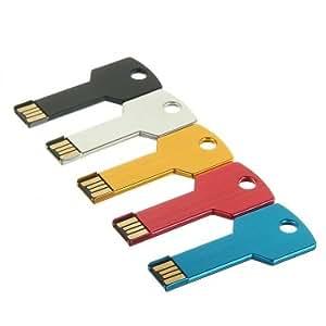 2GB USB Metal Key Drive Flash Memory Drive Thumb Design --- Color:Dark Blue