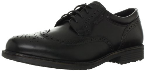 Rockport Men's Essential Details Water Proof Wing Tip Oxford-Black-11 W