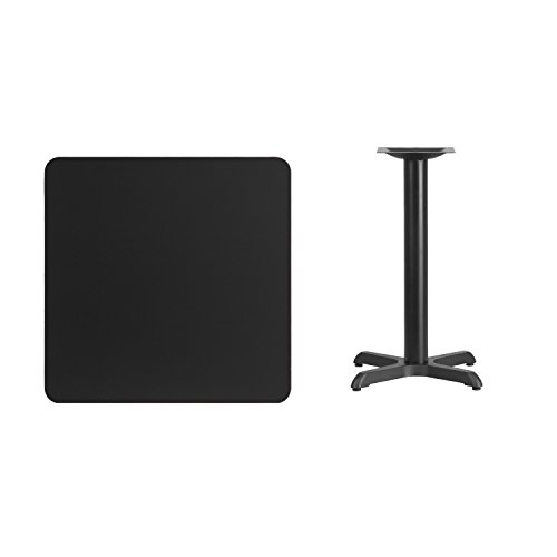 30' Square Table Top (Flash Furniture 30'' Square Black Laminate Table Top with 22'' x 22'' Table Height Base)