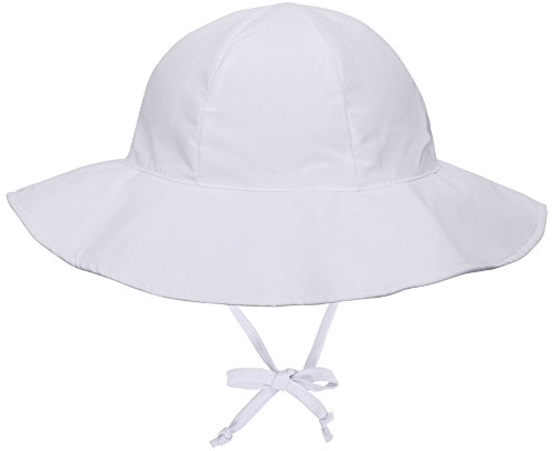SimpliKids UPF 50+ UV Ray Sun Protection Wide Brim Baby Sun Hat,White,0-12 Months]()