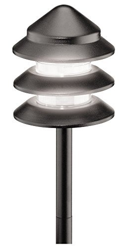 Malibu 8301-9202-LED Black Metal 3 Tier Pathway Light, 10 Watt (10 Watt equivalent, 1.5 Watt Actual), 85 Lumens, Bulb Life 13.7 Years