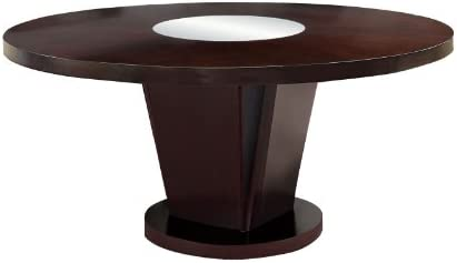 Furniture of America Telstars Round Dining Table with Lazy Susan, Espresso