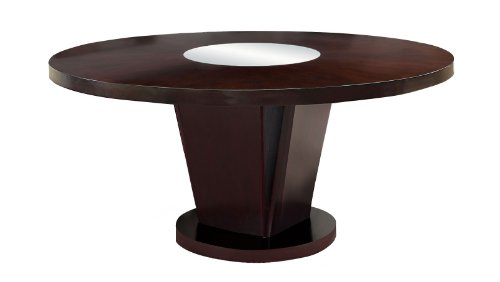 Furniture of America Telstars Round Dining Table with Lazy Susan, Espresso by Furniture of America