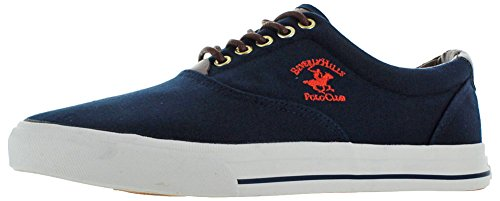 Beverly Collines Polo Club Hommes Toile De Mode Bateau Chaussures Sneakers Marine