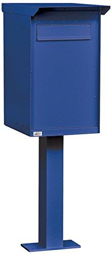 Pedestal Drop Box, Regular, Aluminum, Blue - Drop Aluminum Box