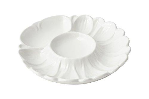 "Bon Chef 5080 Aluminum Seafood/Artichoke Plate, 8-3/4"" Diameter, Sandstone White (Pack of 6)"