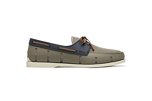 SWIMS Boat Anti-Slip, Breathable, Flexible Loafer In Khaki/Navy, Size 10 by SWIMS