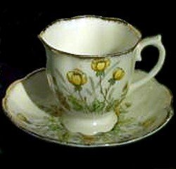 Vintage Royal Albert Crown China England Springtime Yellow Spring Flowers Tea Cup & Saucer