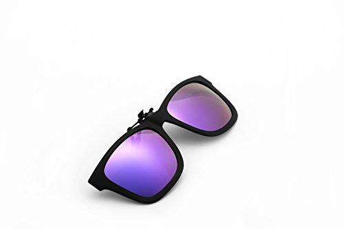 fa4bc032f5 JOLITCHION Flip up Clip Wayfarer Sunglasses Lens Polarized Clip-on ...