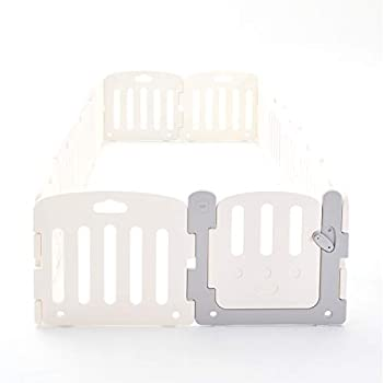 Image of Baby ALZIP MAT Baby Room, Baby Safety Playpen Play Yard for Baby, Toddler, Kids (SG(12P), Plain White)