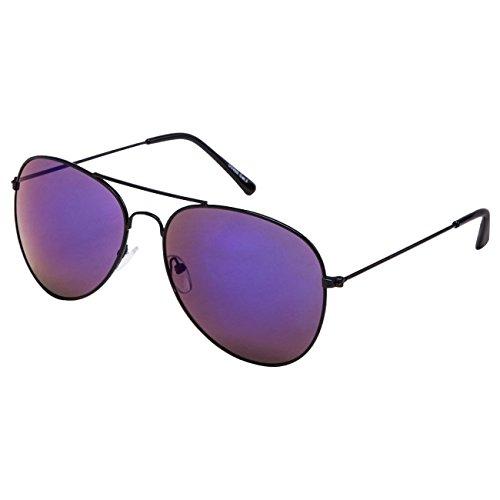 Lunette de Vintage Top Soleil STYLE Lunettes Nerd UV®400 Retro Glässer Design Schwarz Glas Norme Ciffre Blau Spiegel ExpqS0zwFw