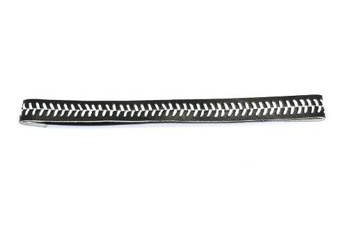 レザーソフトボールSeamヘッドバンド(ブラックとホワイトの縫い目)   B00A6069ZO